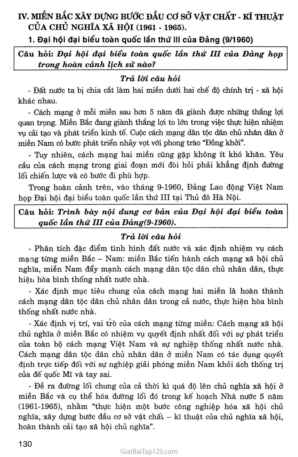 Bài 28: Xây dựng chủ nghĩa xã hội ở miền Bắc, đấu tranh chống đế quốc Mĩ và chính quyền Sài Gòn ở miền Nam (1954 - 1965) trang 6