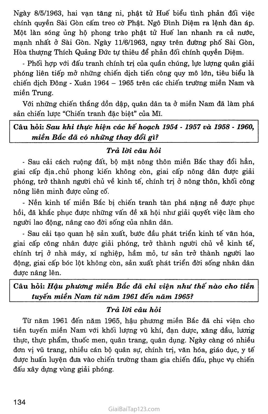 Bài 28: Xây dựng chủ nghĩa xã hội ở miền Bắc, đấu tranh chống đế quốc Mĩ và chính quyền Sài Gòn ở miền Nam (1954 - 1965) trang 10