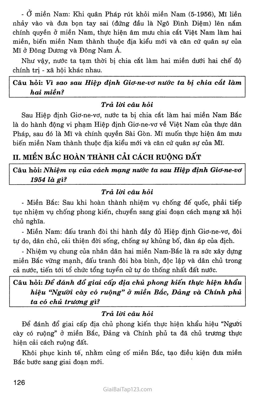 Bài 28: Xây dựng chủ nghĩa xã hội ở miền Bắc, đấu tranh chống đế quốc Mĩ và chính quyền Sài Gòn ở miền Nam (1954 - 1965) trang 2