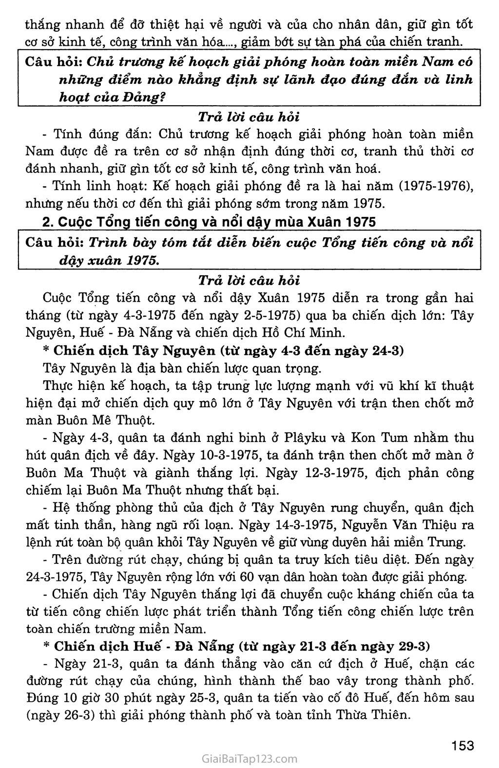 Bài 30: Hoàn thành giải phóng miền Nam, thống nhất đất nước (1973 - 1975) trang 4