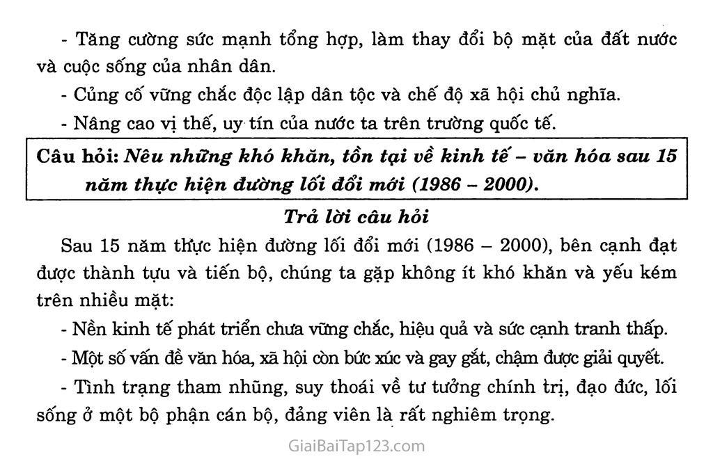 Bài 33: Việt Nam trên đường đổi mới đi lên chủ nghĩa xã hội (từ năm 1986 đến năm 2000) trang 4