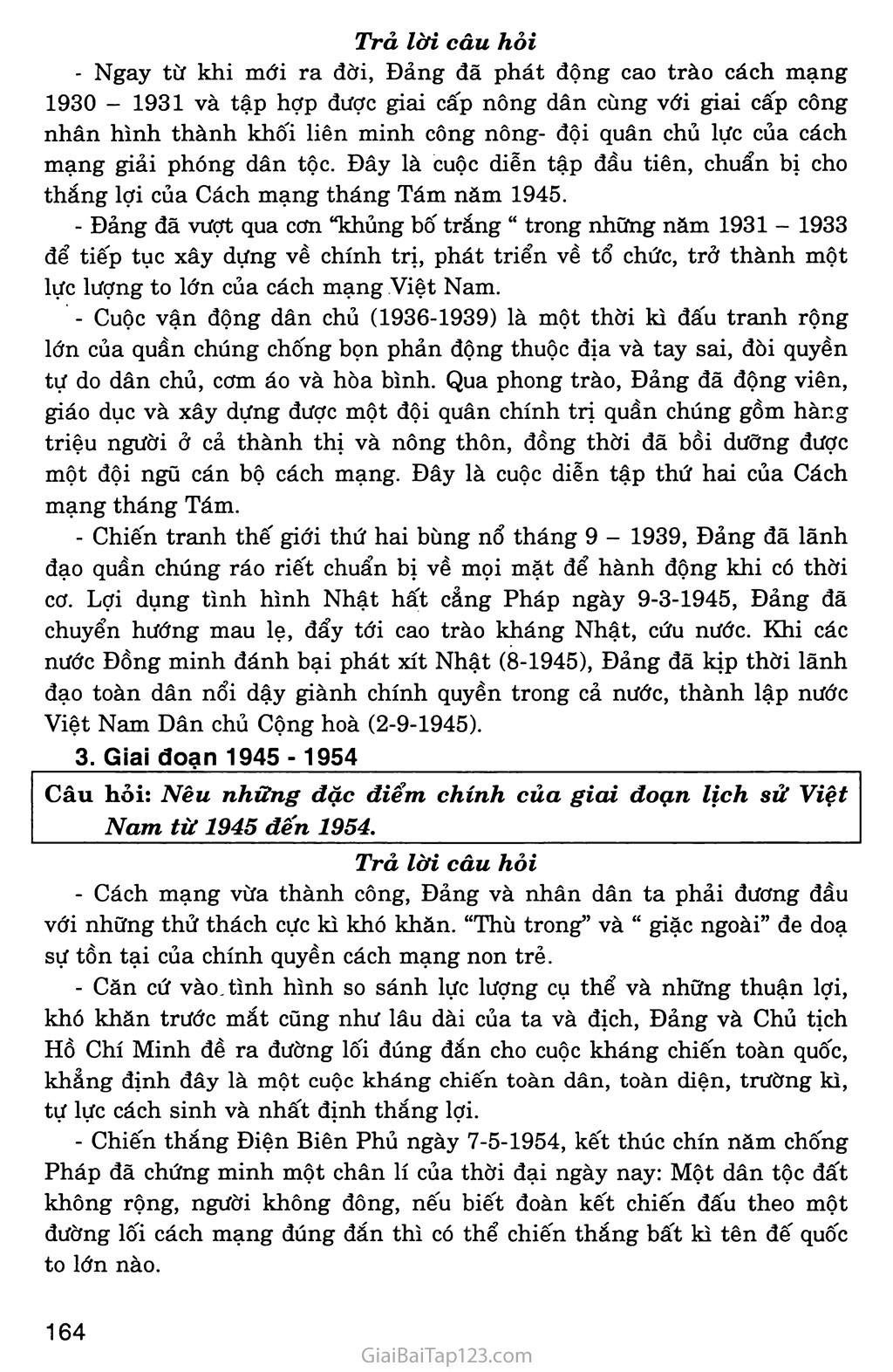 Bài 34: Tổng kết lịch sử Việt Nam từ sau Chiến tranh thế giới thứ nhất đến năm 2000 trang 3