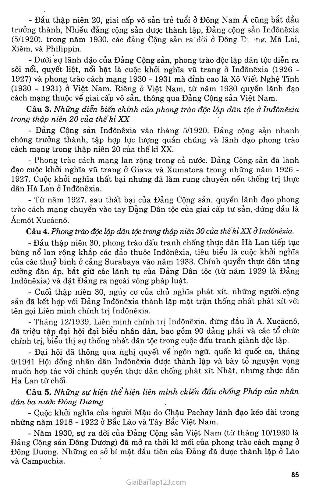 Bài 16: Các nước Đông Nam Á giữa hai cuộc chiến tranh thế giới (1918 - 1939) trang 6