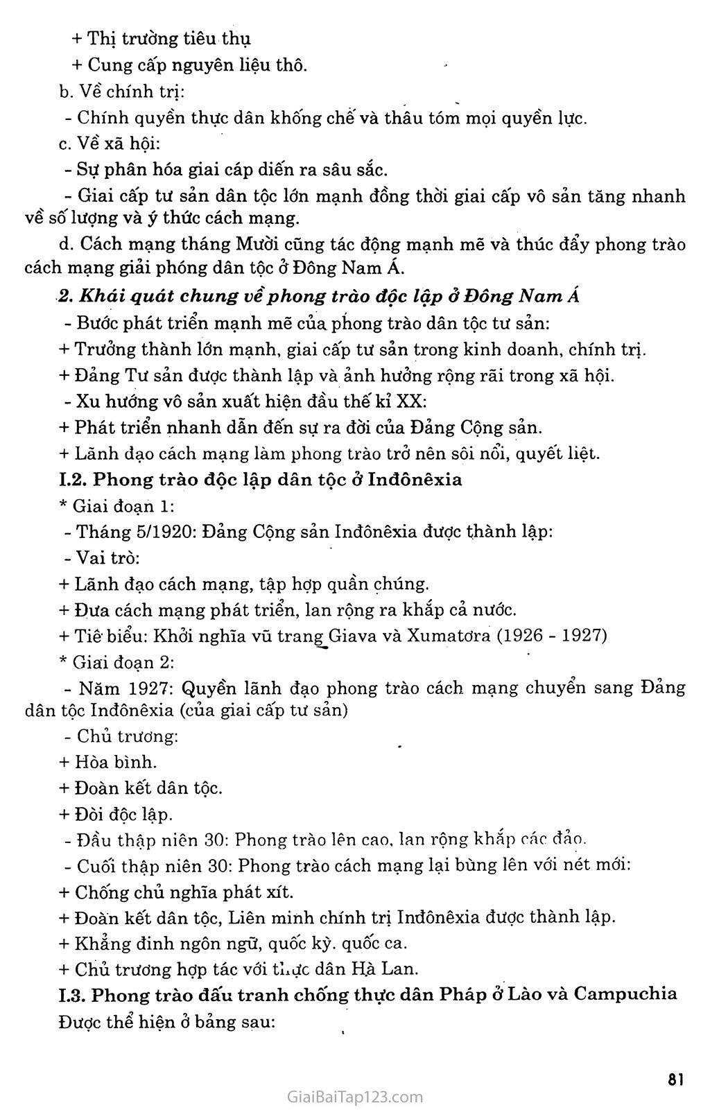 Bài 16: Các nước Đông Nam Á giữa hai cuộc chiến tranh thế giới (1918 - 1939) trang 2