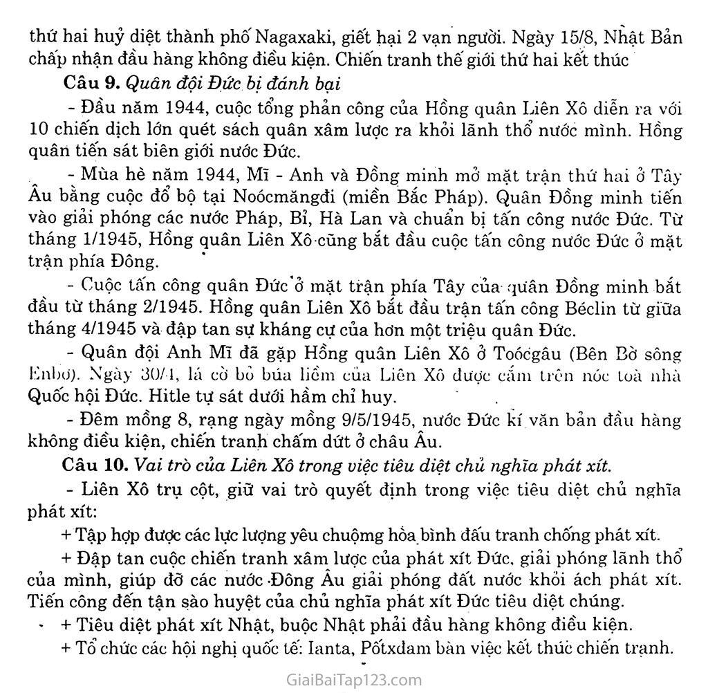 Bài 17: Chiến tranh thế giới thứ hai (1939 - 1945) trang 9