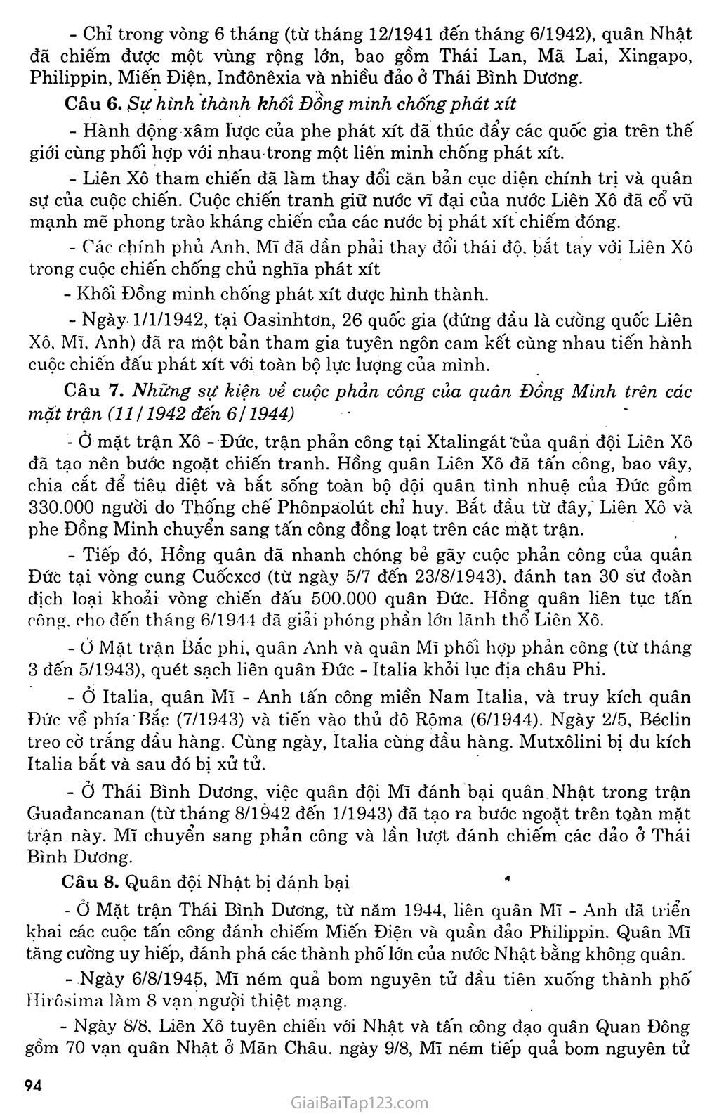 Bài 17: Chiến tranh thế giới thứ hai (1939 - 1945) trang 8