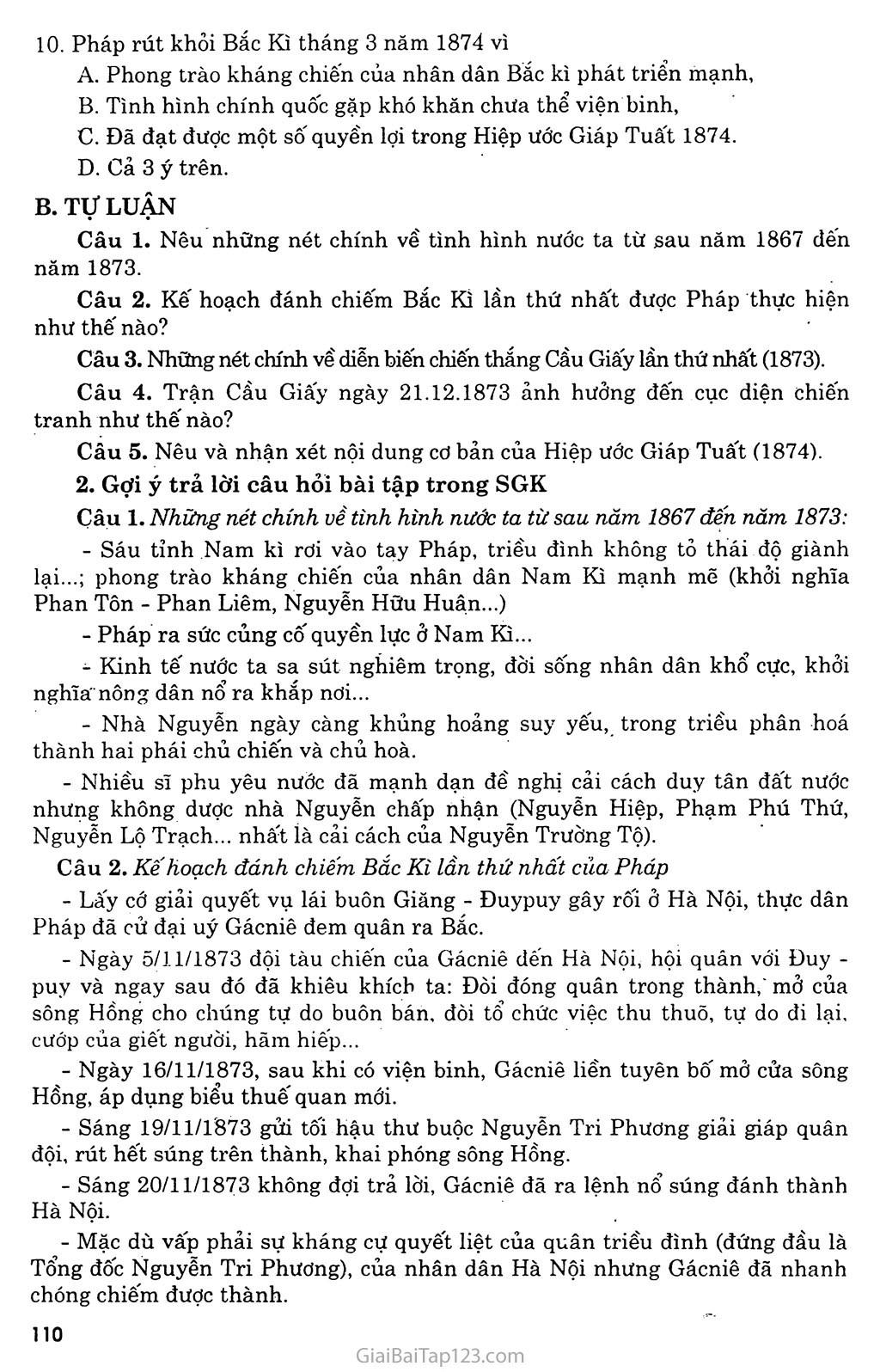 Bài 20: Chiến sự lan rộng ra cả nước: Cuộc kháng chiến của nhân dân ta từ năm 1873 đến năm 1884: Nhà Nguyễn đầu hàng trang 5