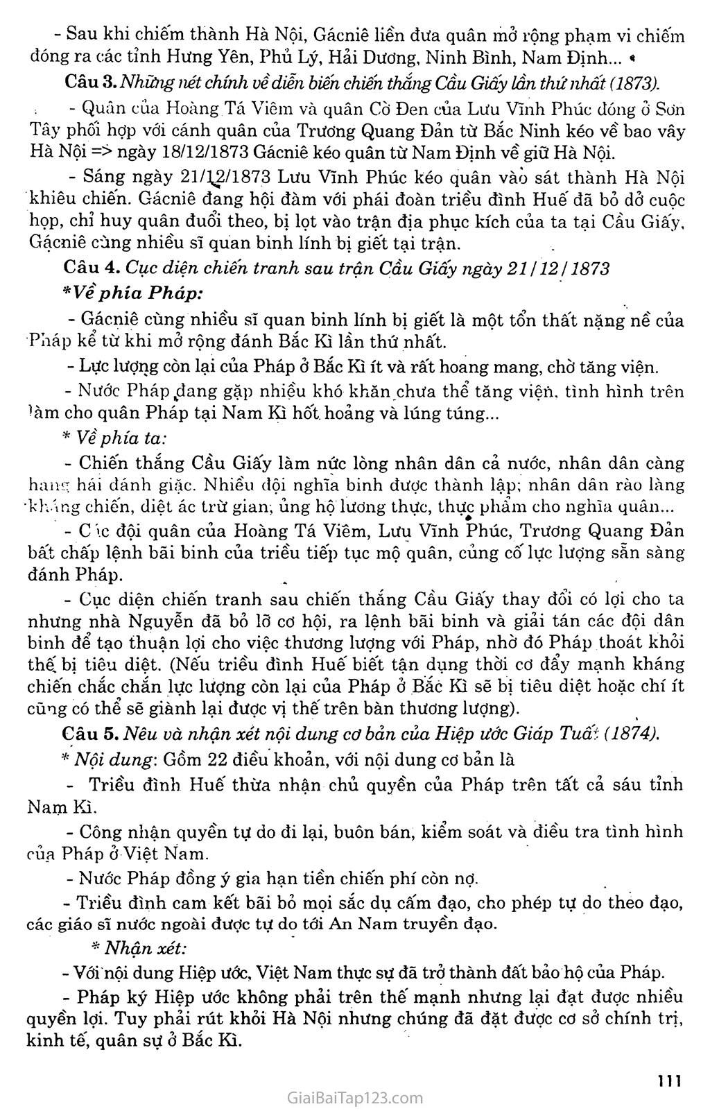 Bài 20: Chiến sự lan rộng ra cả nước: Cuộc kháng chiến của nhân dân ta từ năm 1873 đến năm 1884: Nhà Nguyễn đầu hàng trang 6