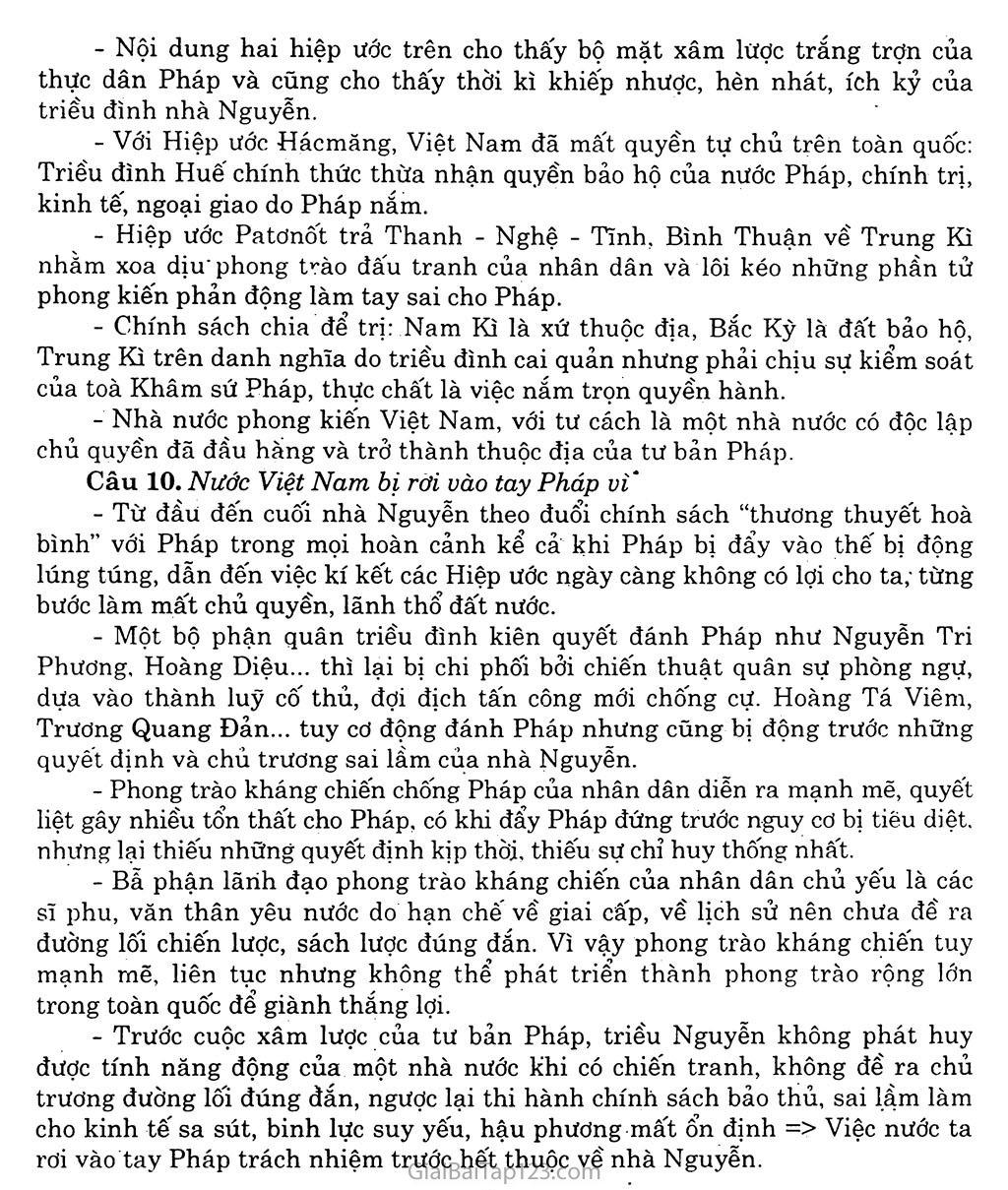 Bài 20: Chiến sự lan rộng ra cả nước: Cuộc kháng chiến của nhân dân ta từ năm 1873 đến năm 1884: Nhà Nguyễn đầu hàng trang 8