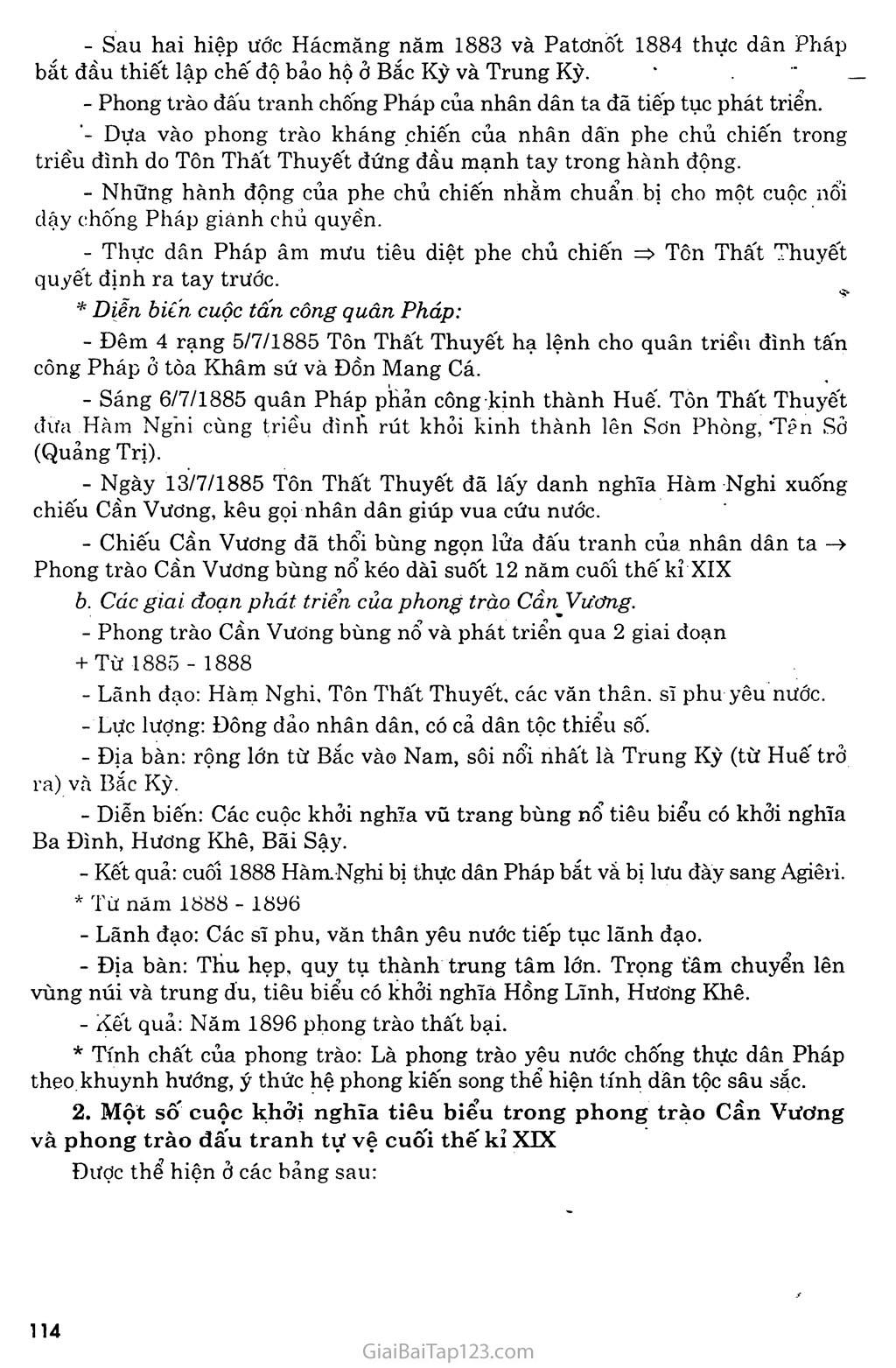 Bài 21: Phong trào yêu nước, chống thực dân Pháp của nhân dân Việt Nam trong những năm cuối thế XIX trang 2
