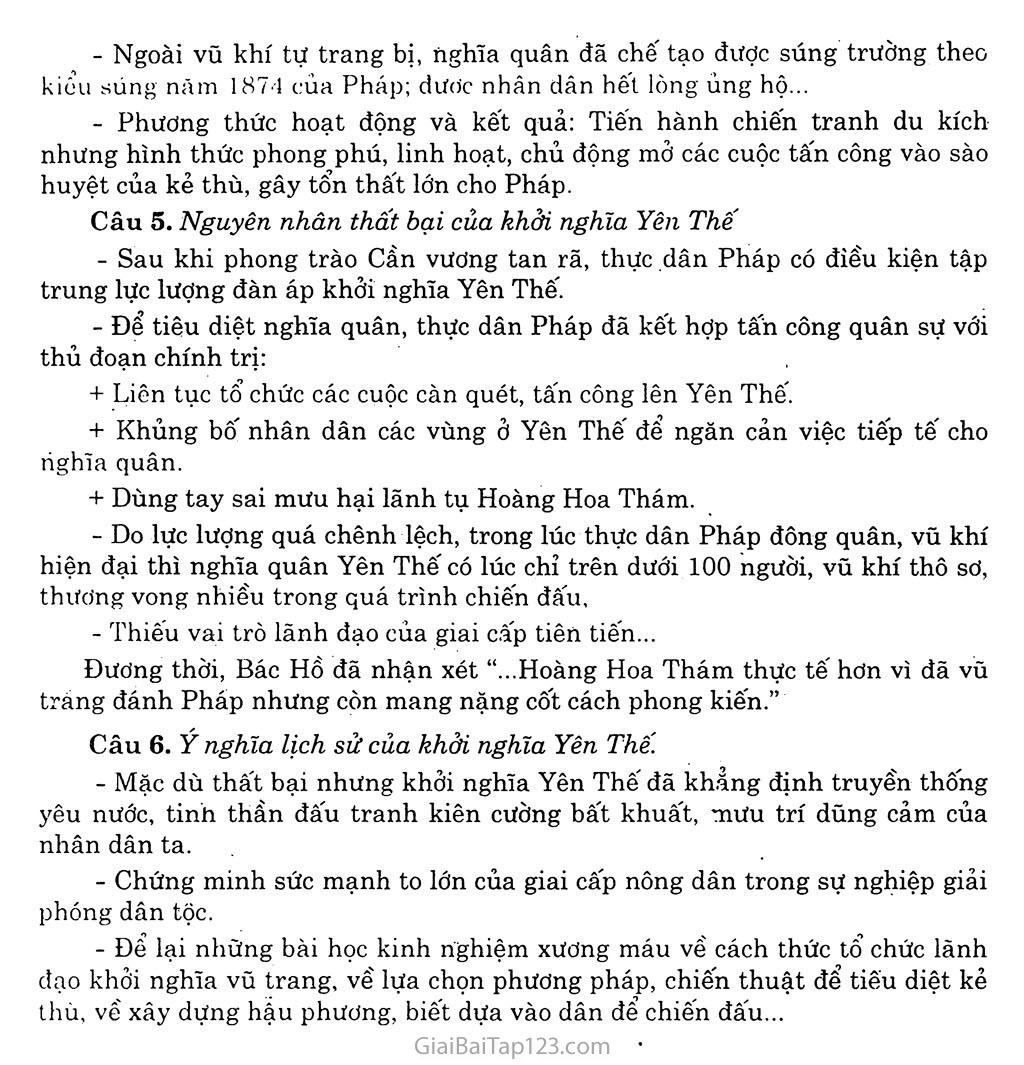 Bài 21: Phong trào yêu nước, chống thực dân Pháp của nhân dân Việt Nam trong những năm cuối thế XIX trang 8
