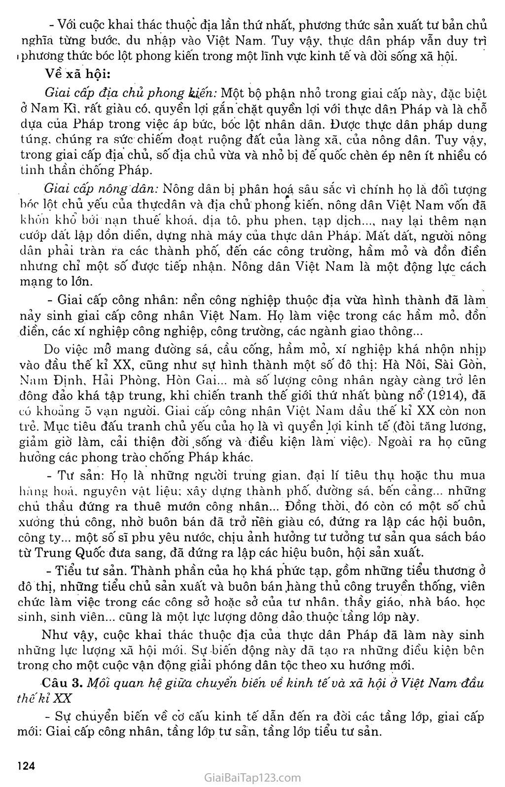 Bài 22: Xã hội Việt Nam trong cuộc khai thác lần thứ nhất của thực dân Pháp trang 5