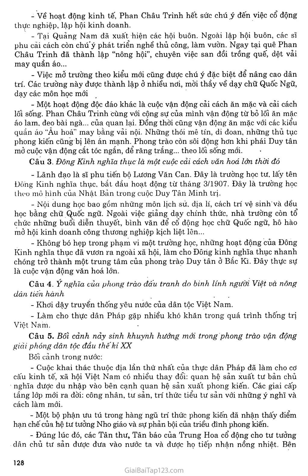 Bài 23: Phong trào yêu nước và cách mạng ở Việt Nam từ đầu thế kỷ XX đến chiến tranh thế giới thứ nhất (1914) trang 4