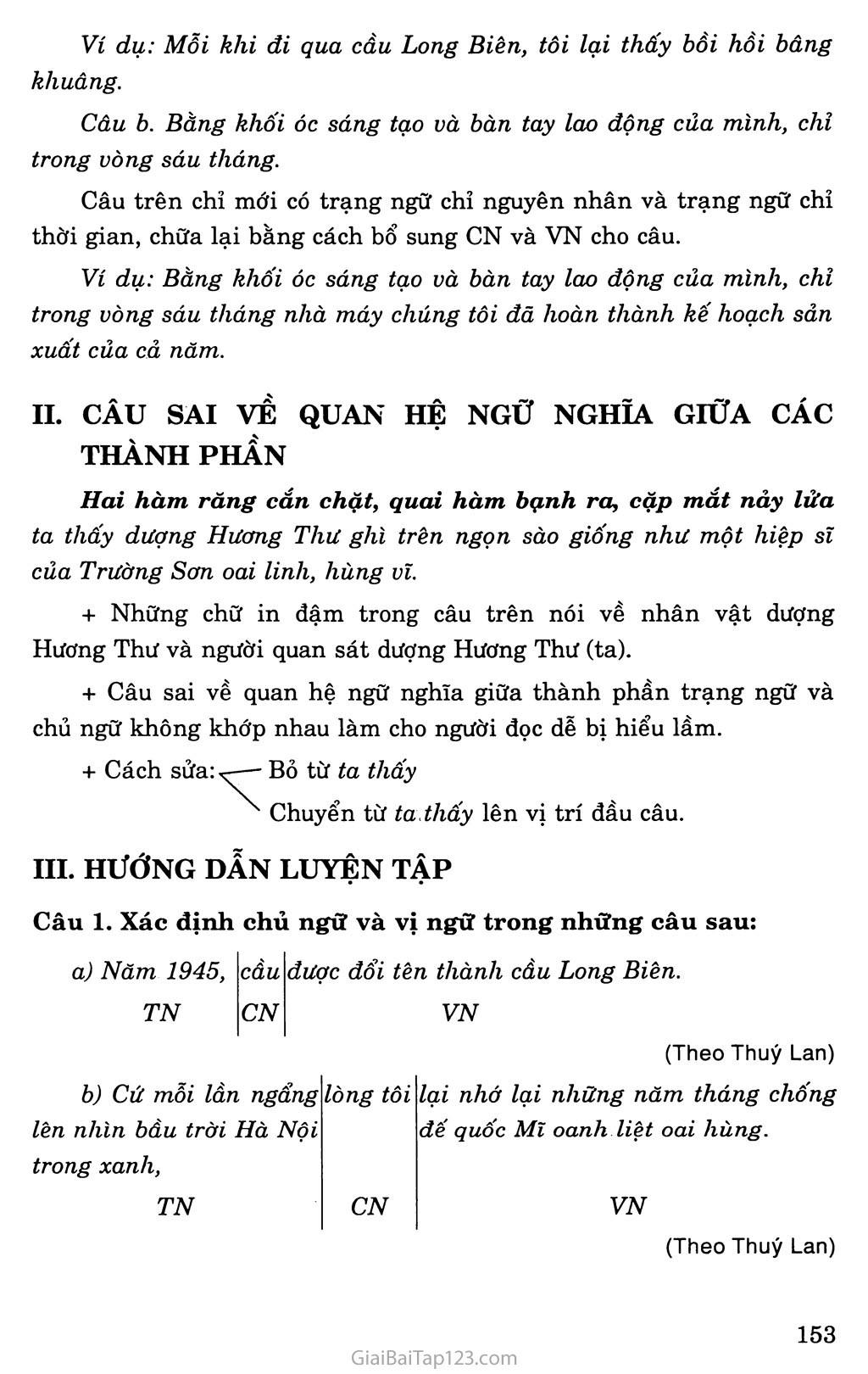 Chữa lỗi về chủ ngữ và vị ngữ (tiếp theo) trang 2