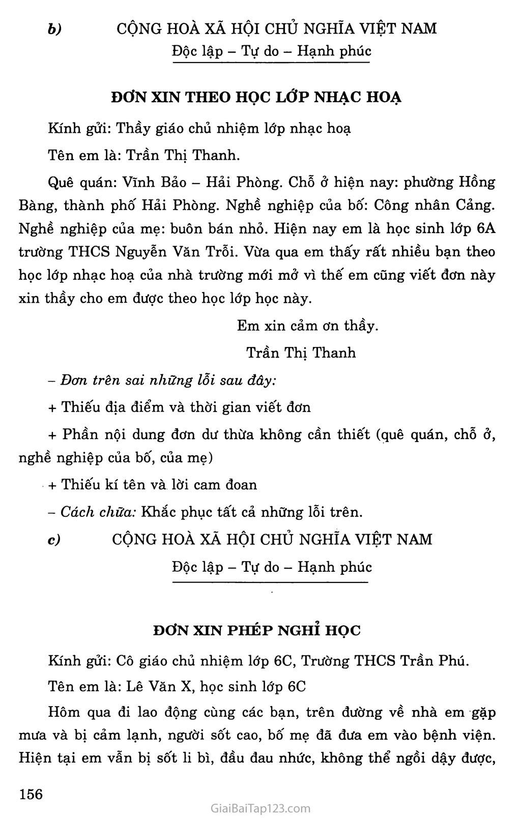 Luyện tập cách viết đơn và sửa lỗi trang 2