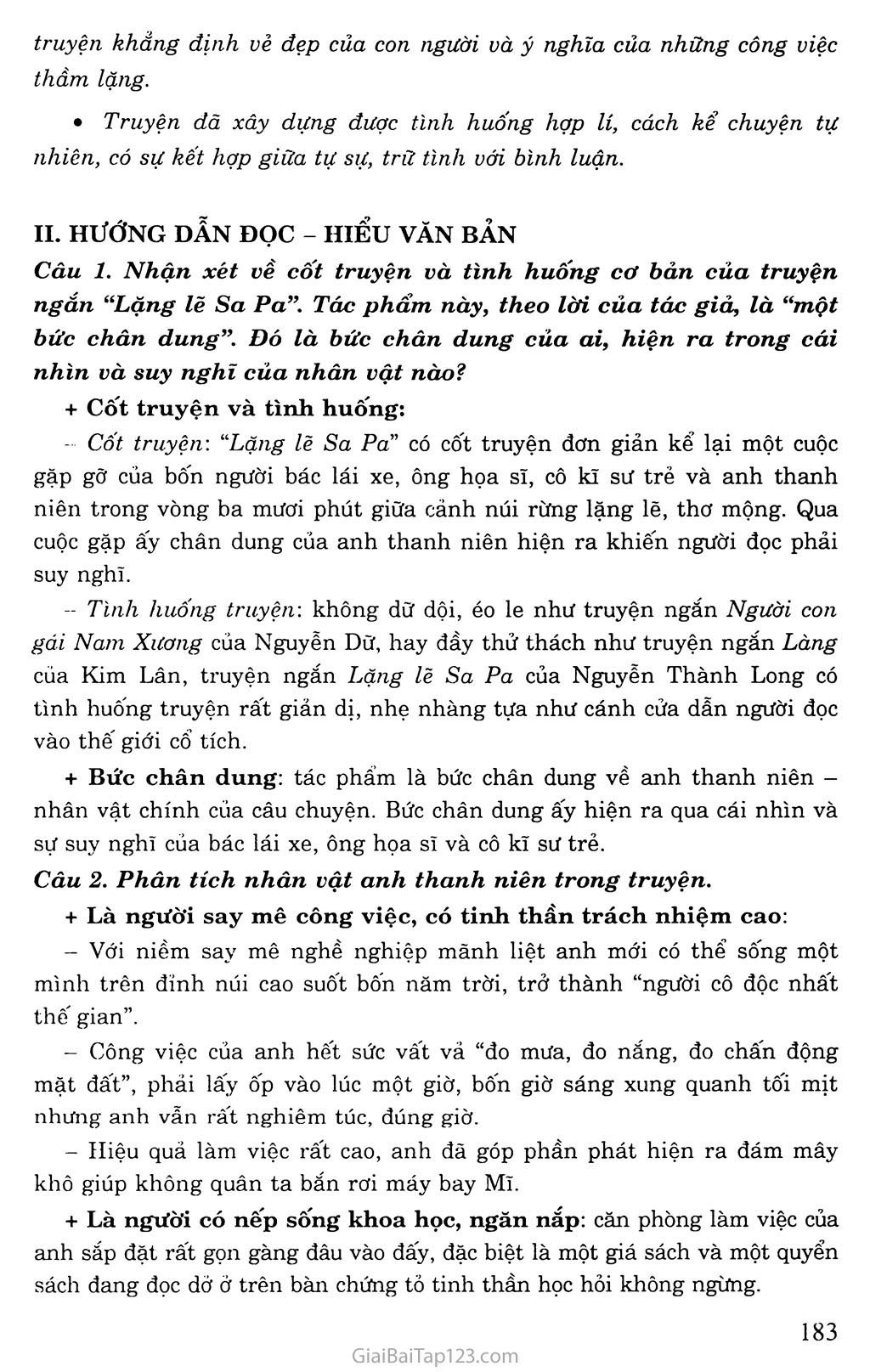 Lặng lẽ Sa Pa (trích) trang 2