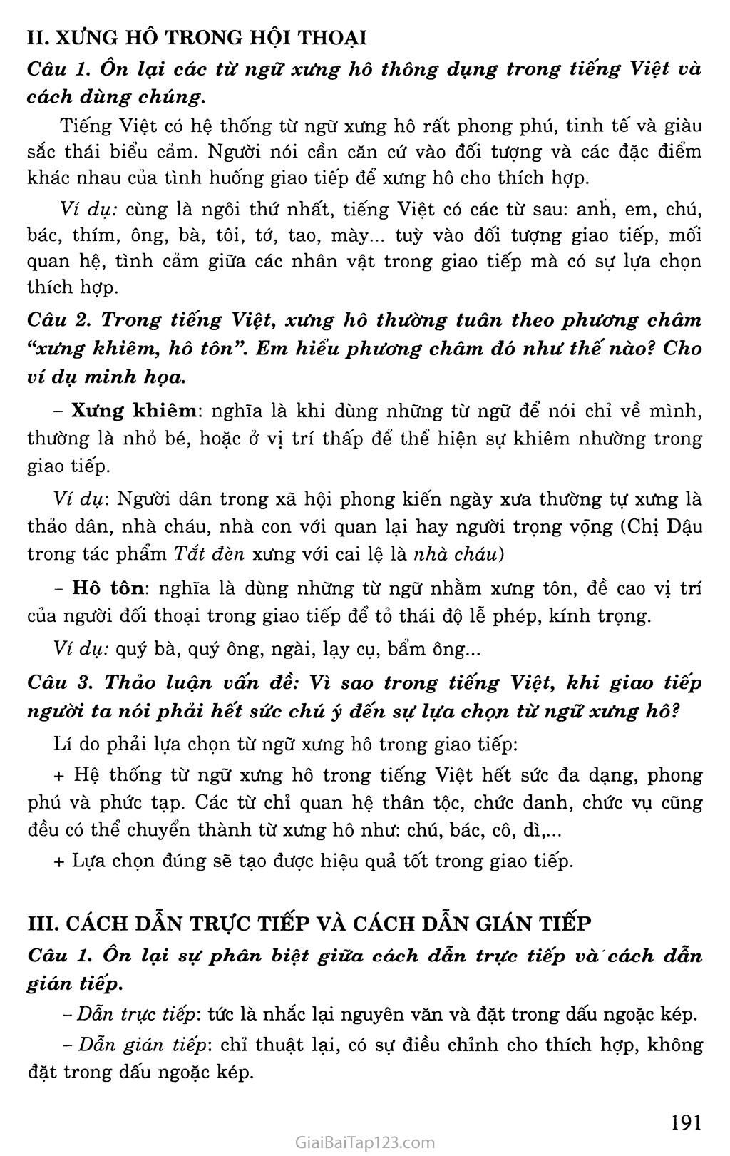 Ôn tập phần Tiếng Việt trang 2