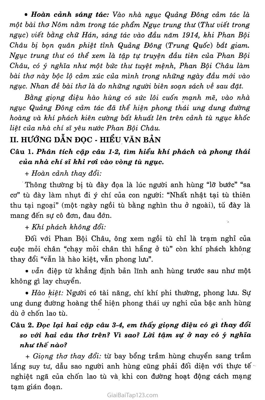 Vào nhà ngục Quảng Đông cảm tác trang 2