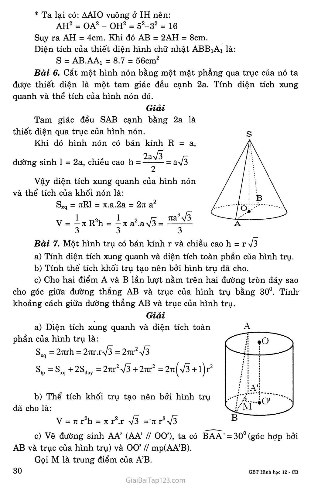 Bài 1. Khái niệm về mặt tròn xoay trang 5