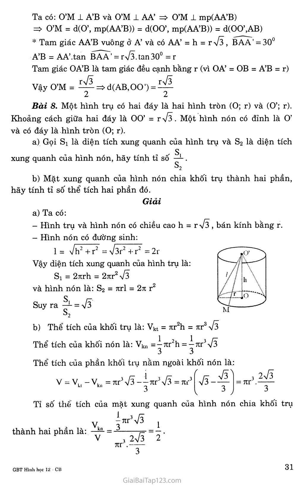 Bài 1. Khái niệm về mặt tròn xoay trang 6