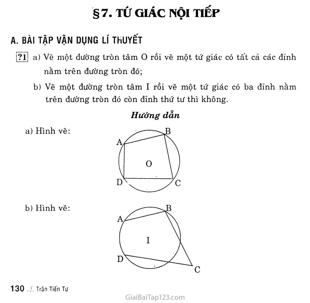 Bài 7. Tứ giác nội tiếp trang 1