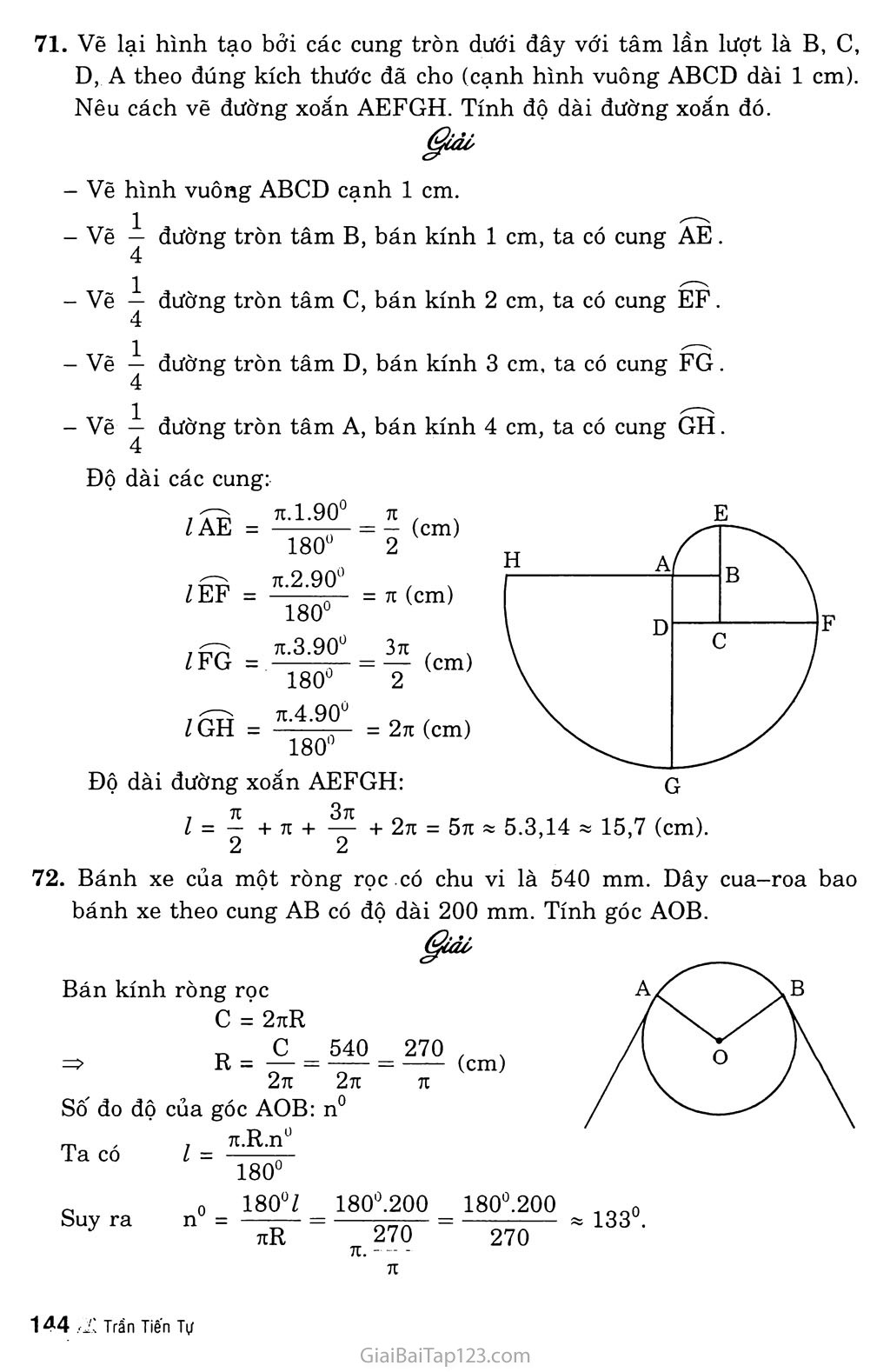 Bài 9. Độ dài đường tròn, cung tròn trang 5