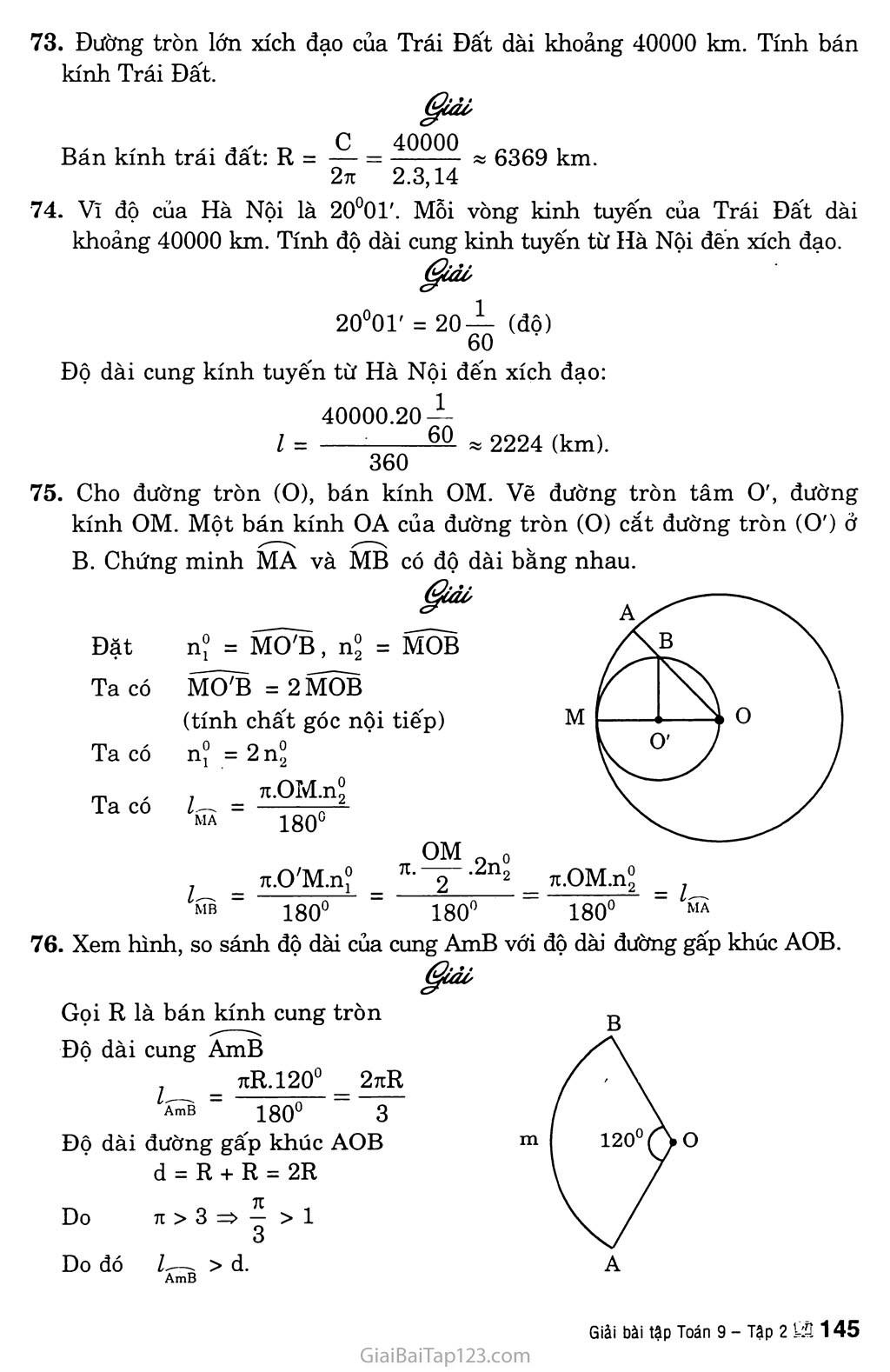 Bài 9. Độ dài đường tròn, cung tròn trang 6
