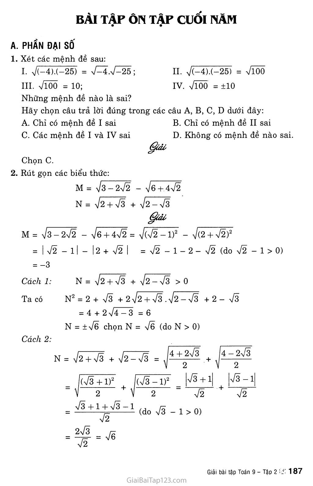 Bài tập ôn cuối năm trang 1
