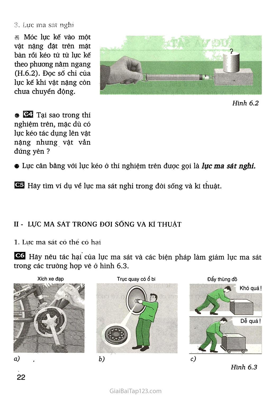 Bài 6. Lực ma sát trang 2