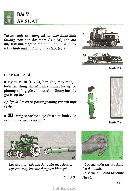 Bài 7. Áp suất trang 1