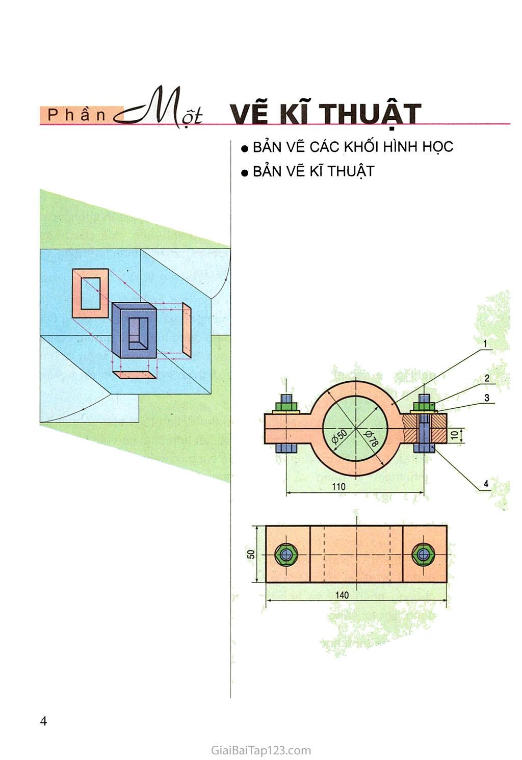 Bài 1. Vai trò của bản vẽ kĩ thuật trong sản xuất và đời sống trang 1