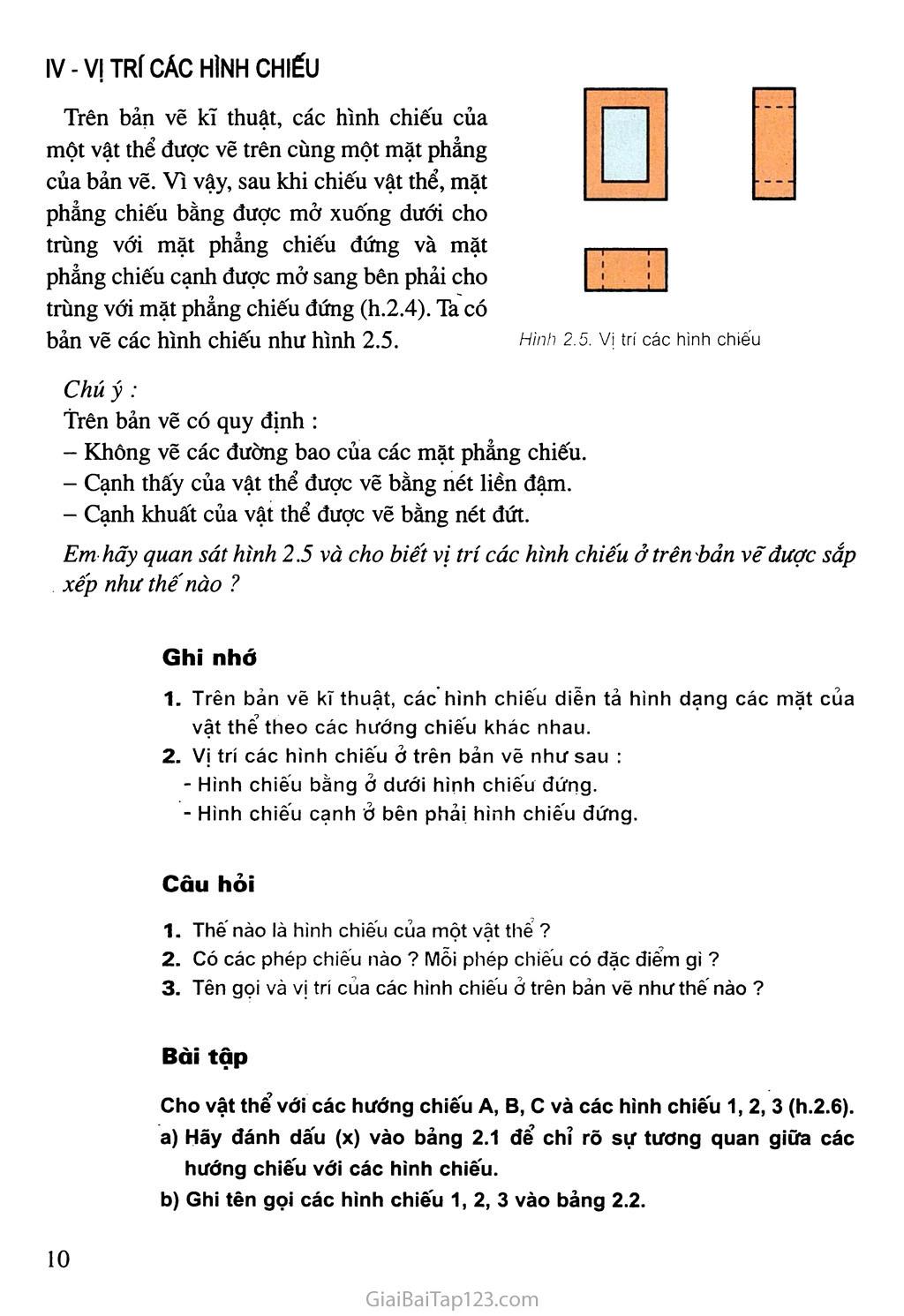 Bài 2. Hình chiếu trang 3