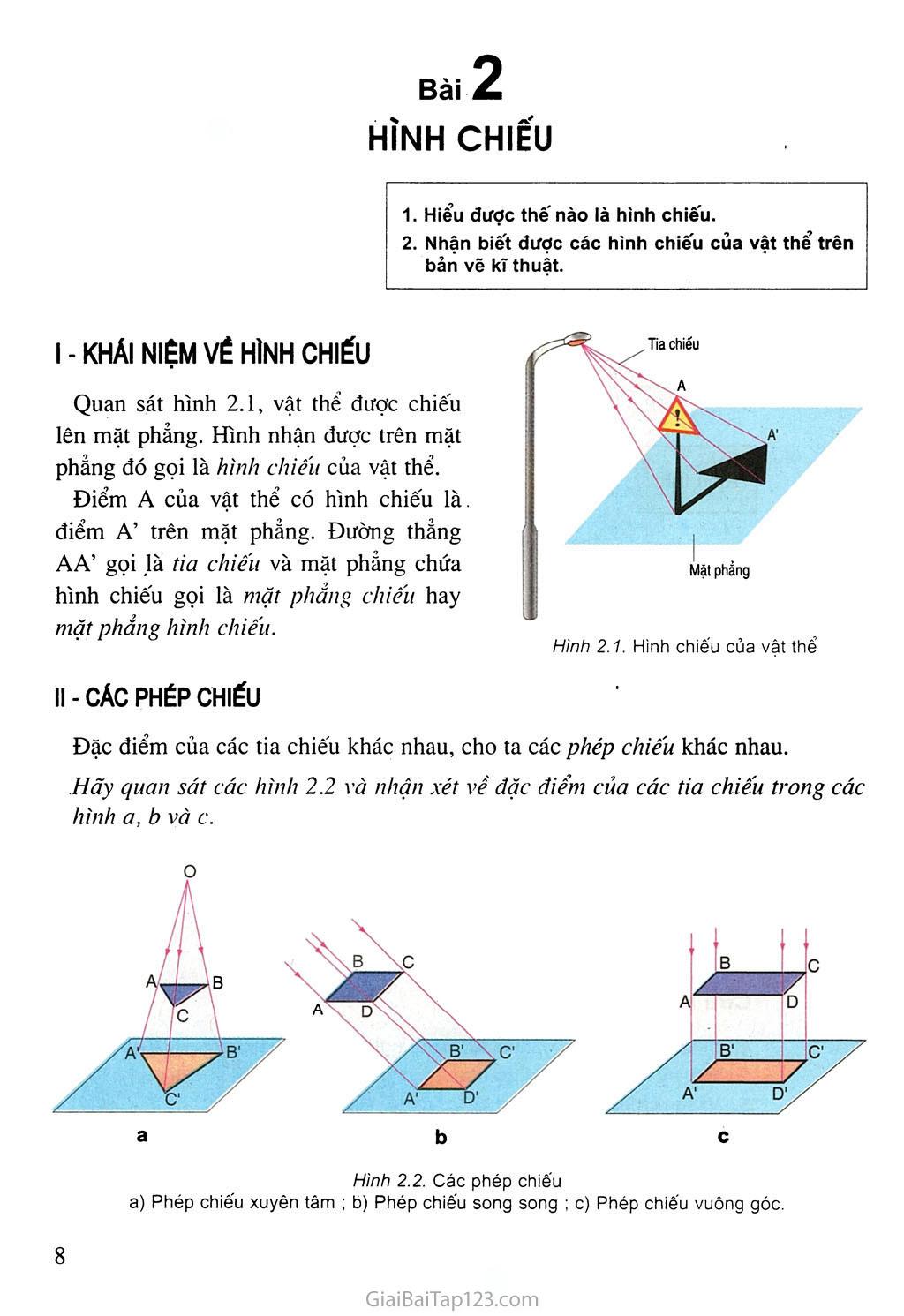 Bài 2. Hình chiếu trang 1