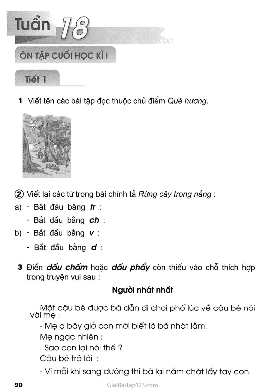 Tuần 18 - Ôn tập cuối học kì I trang 1