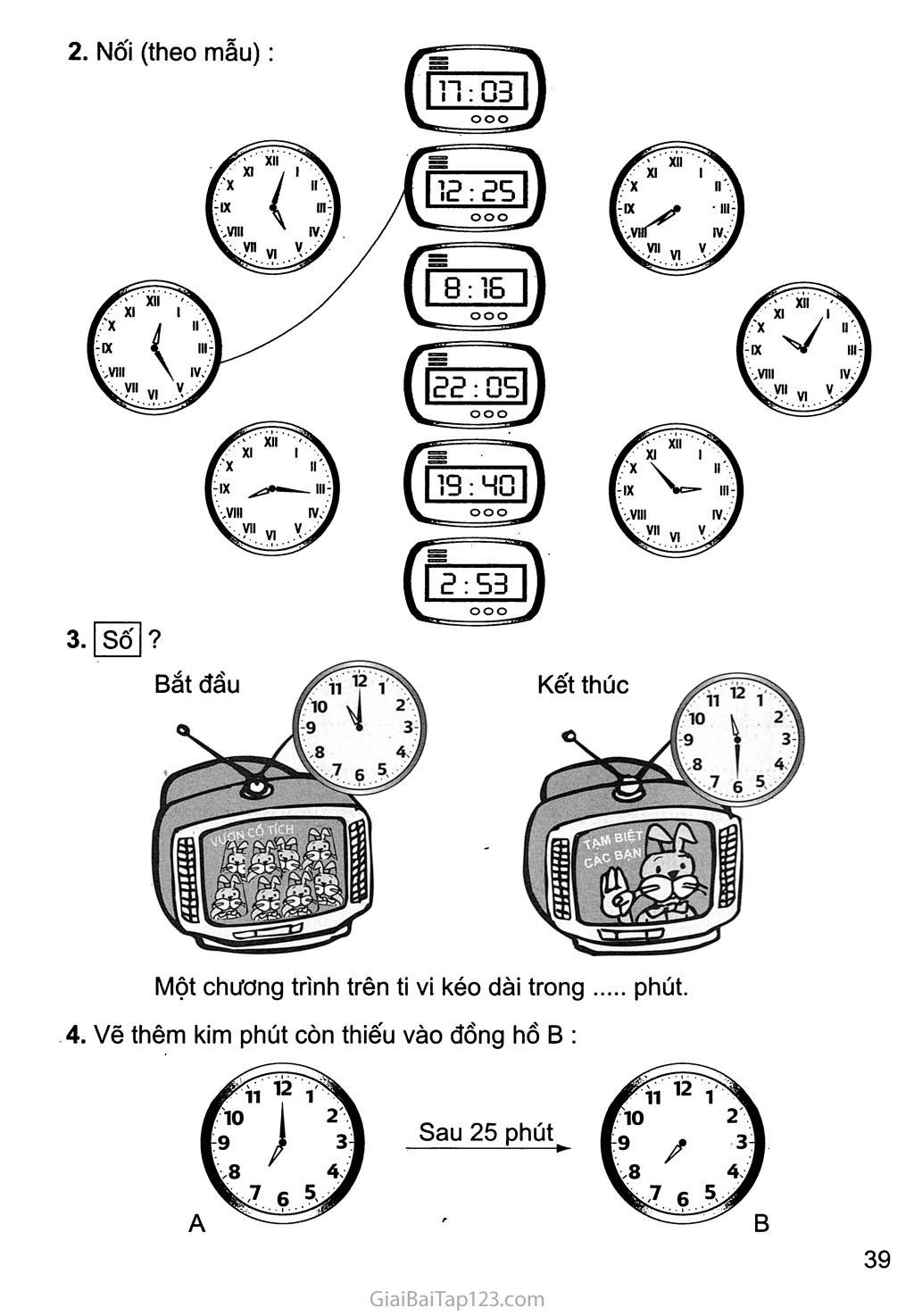 Bài 118: Thực hành xem đồng hồ (tiếp theo) trang 2