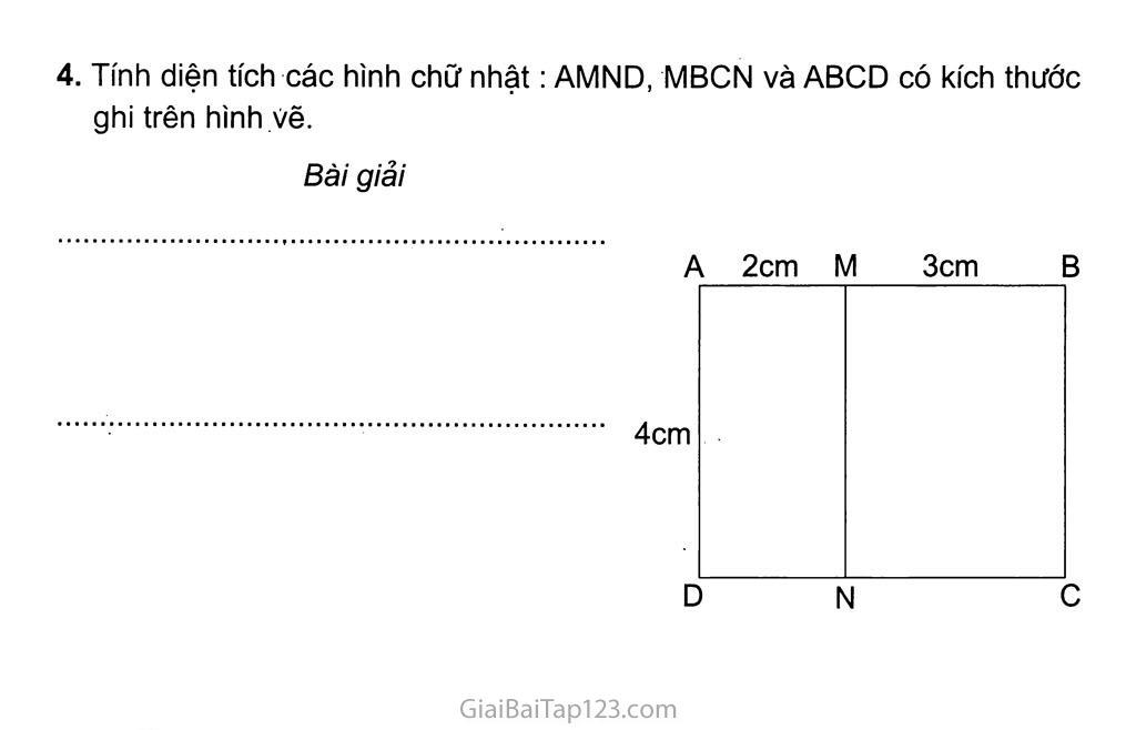 Bài 137: Diện tích hình chữ nhật trang 2