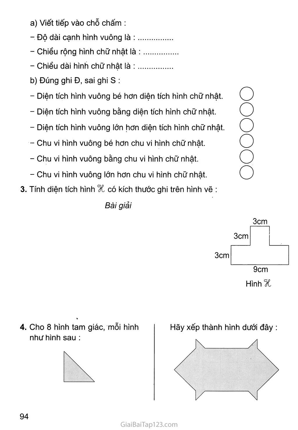 Bài 164: Ôn tập về hình học (tiếp theo) trang 2