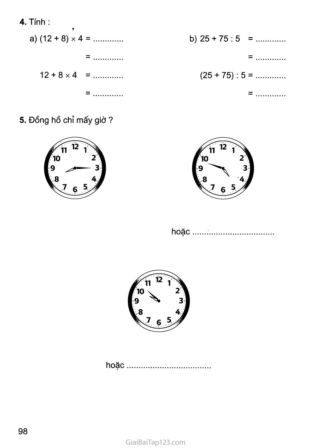 Bài 167: Luyện tập chung trang 2