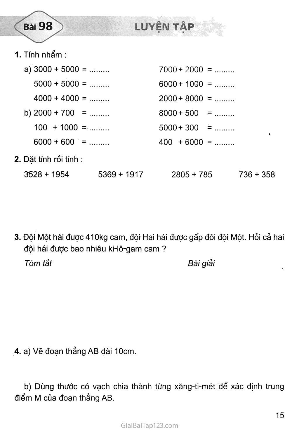Bài 98: Luyện tập trang 1