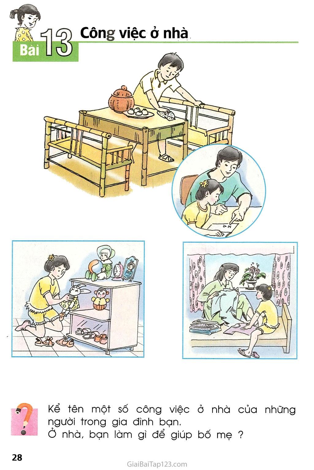 Bài 13. Công việc ở nhà trang 1