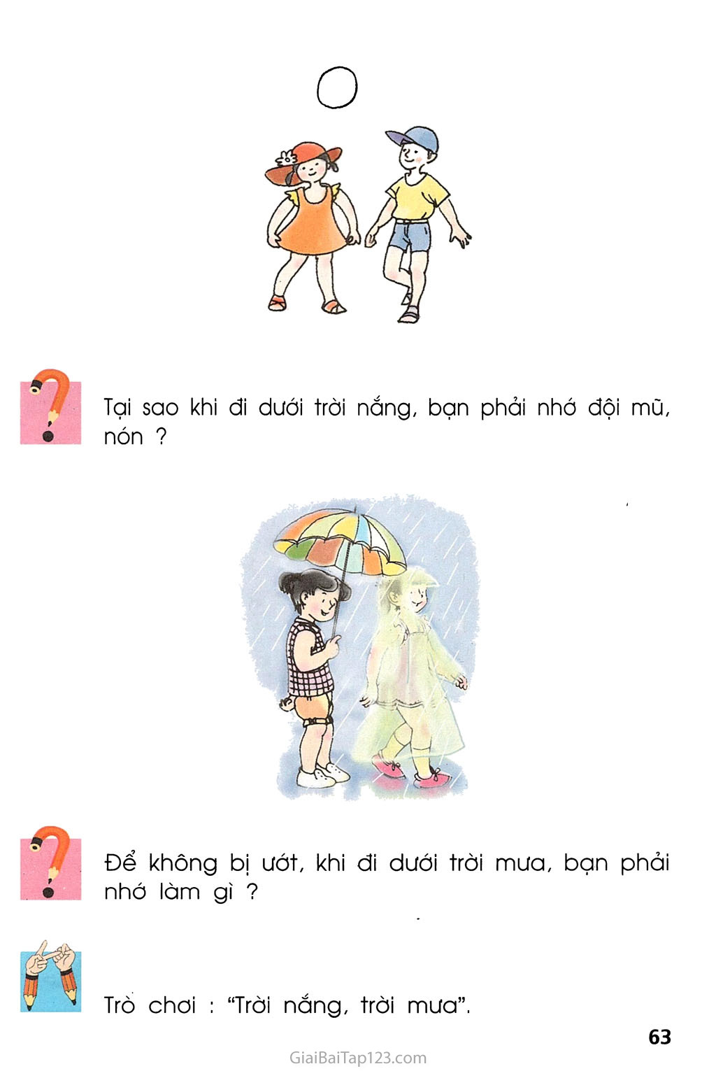 Bài 30. Trời nắng, trời mưa trang 2