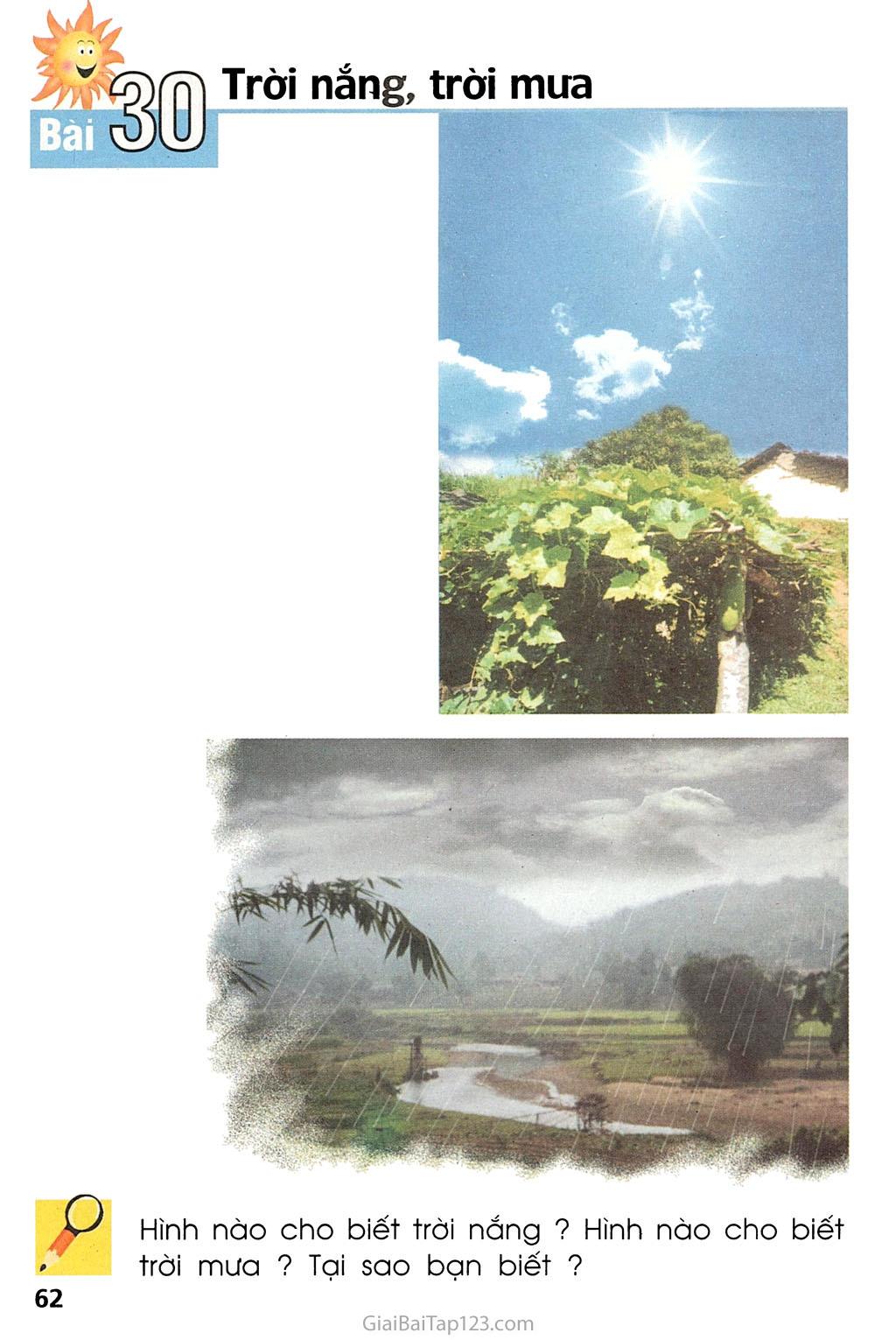 Bài 30. Trời nắng, trời mưa trang 1