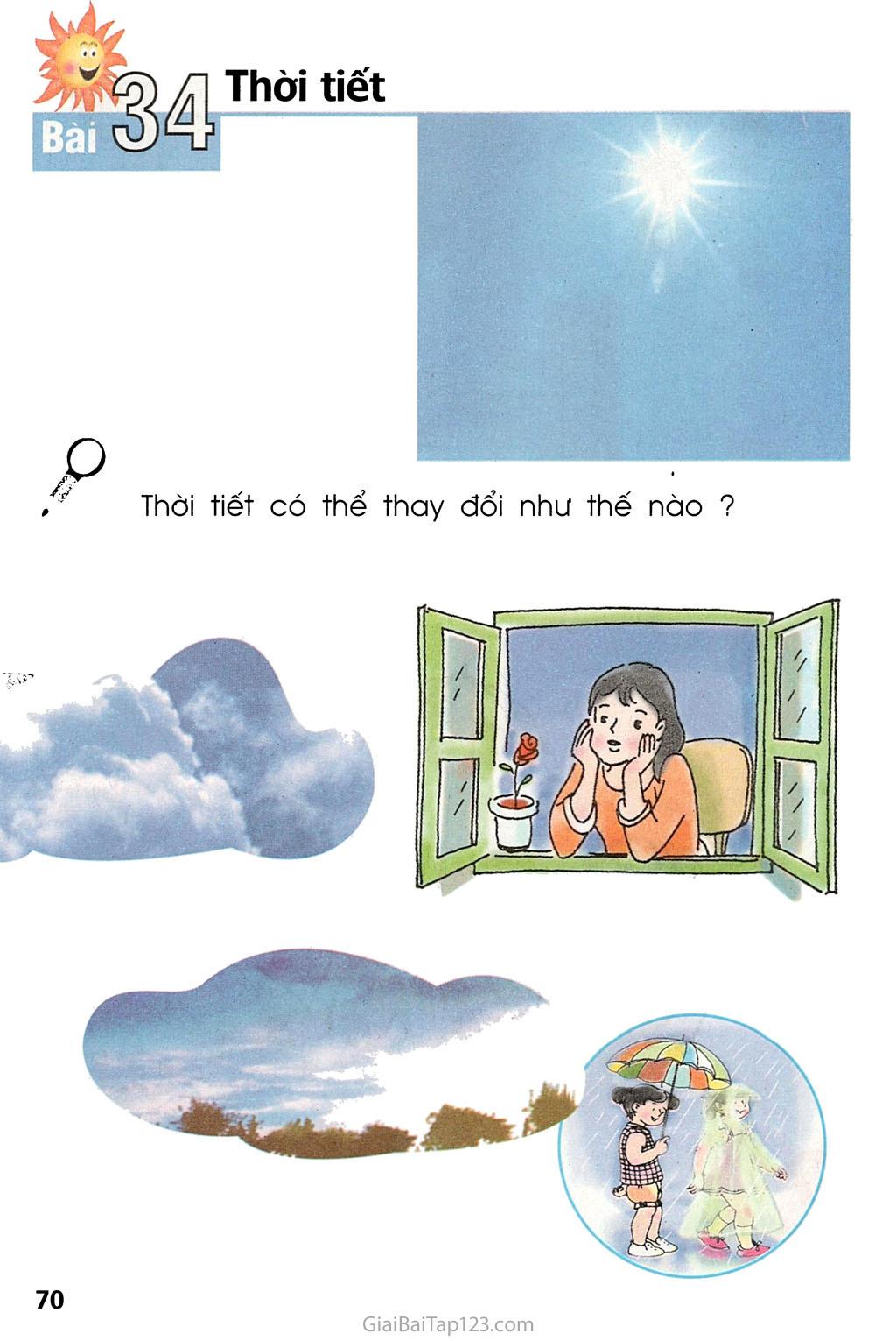 Bài 34. Thời tiết trang 1