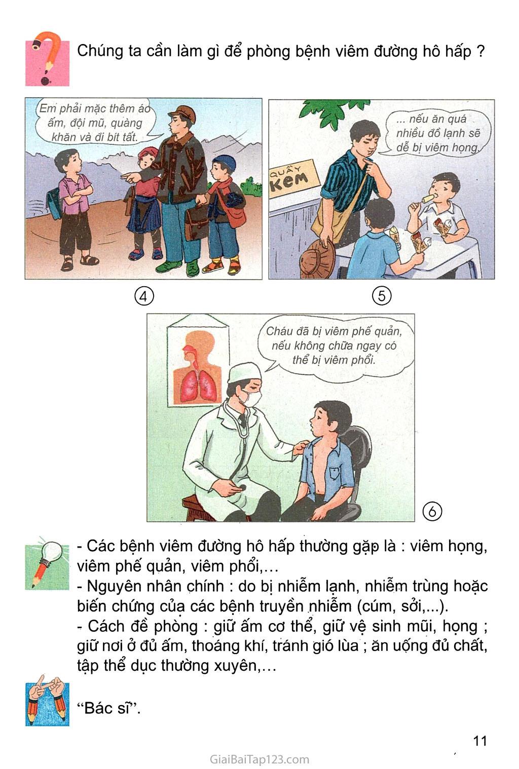 Bài 4. Phòng bệnh đường hô hấp trang 2