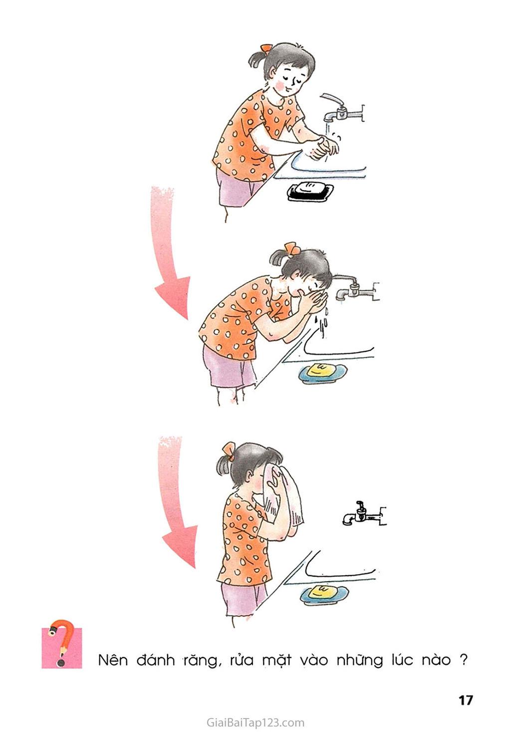 Bài 7. Thực hành: Đánh răng và rửa mặt trang 2